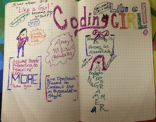 Coding Like a Girl - Sketchnotes