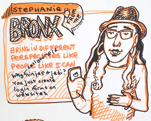Sketchnotes of Stephanie